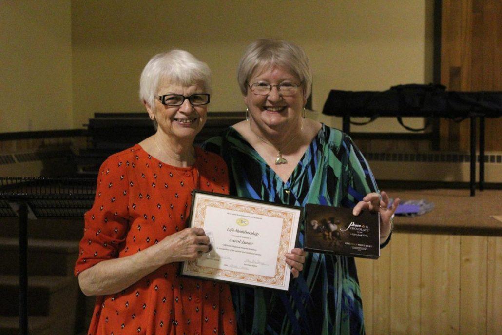 Mrs Carol Isaac Life Membership Award